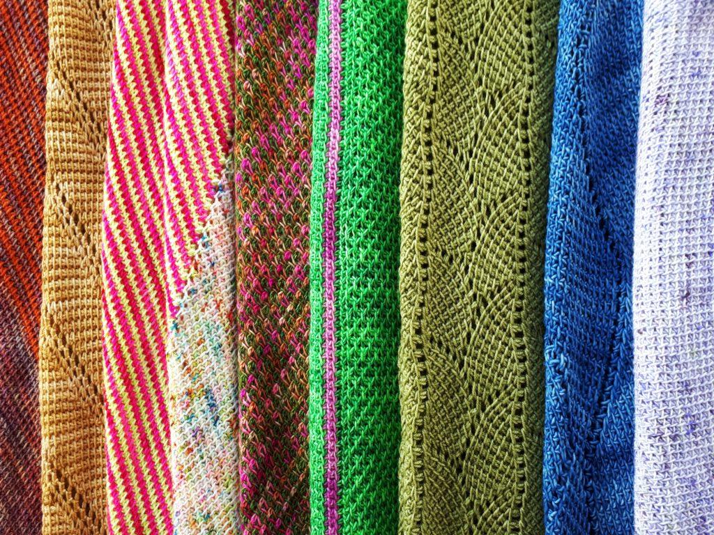 Colorful Tunisian crochet