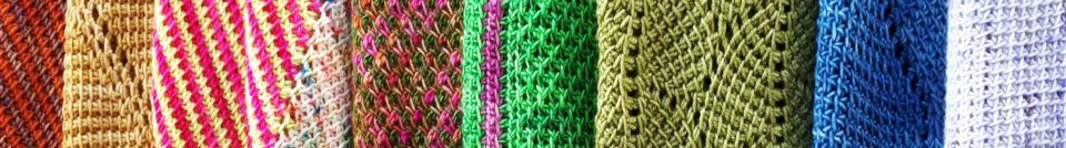 Colorful Tunisian crochet