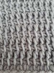 Tunisian double crochet simple stitch