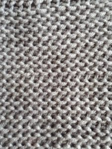 Tunisian purl simple stitch