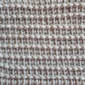 Extended Tunisian reverse stitch
