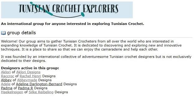 Ravelry group Tunisian crochet explorers