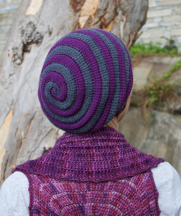 Whirligig hat, Tunisian crochet design by Abbeymade