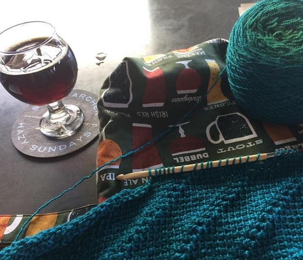 Tunisian crochet wip