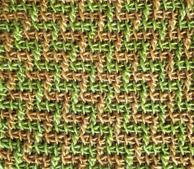 Color change with Tunisian extended stitches