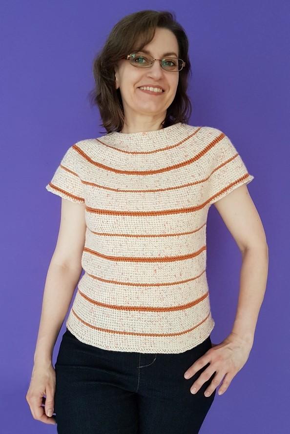 Tunisian crochet designer, Silke Reibeling, aka Haekelreigen