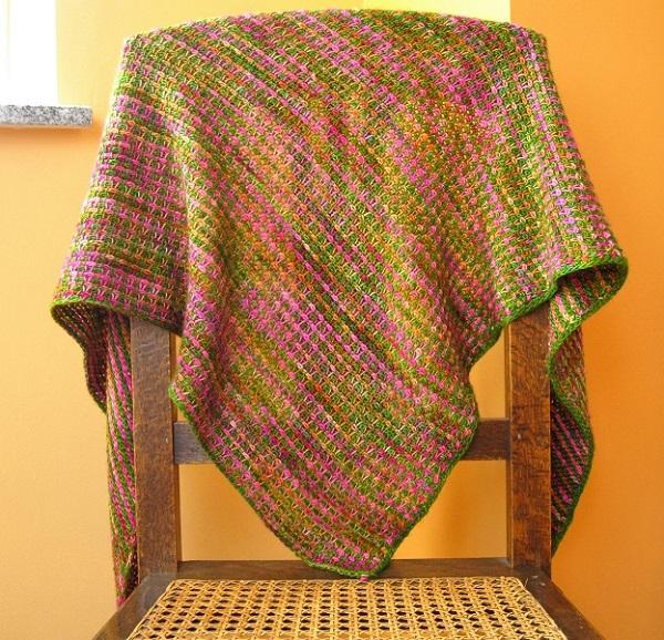 Tunisian crochet pattern Entre les lignes