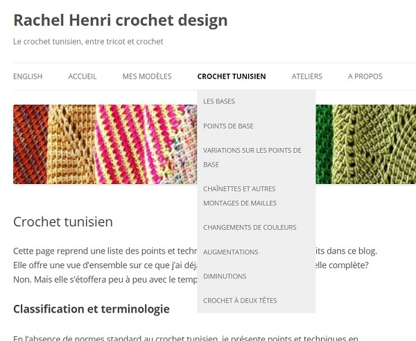 Crochet tunisien, points et techniques
