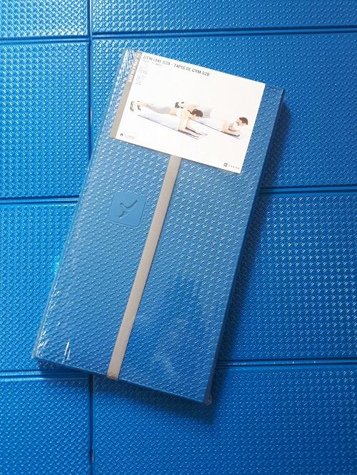 Yoga mat used as blocking board