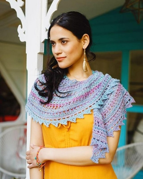 Filigree Lace shawl (design Padma R), photo credit Kirsten Mavric for Inside crochet