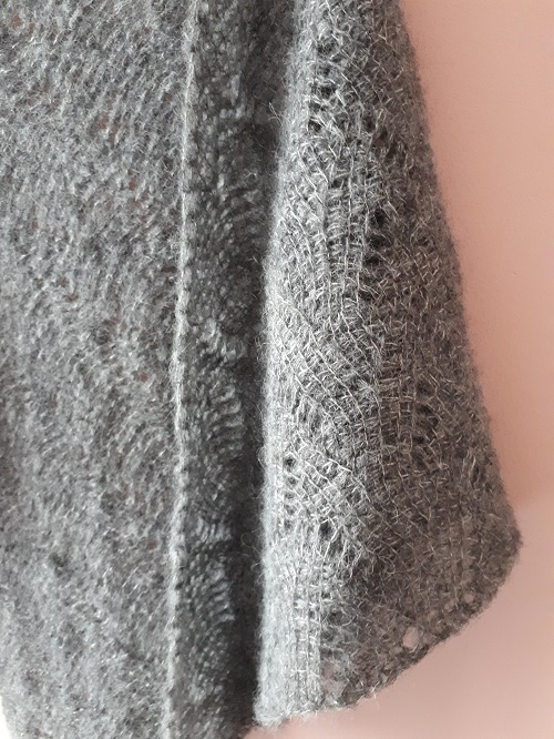 Vent du nord, châle au crochet tunisien, design Rachel Henri