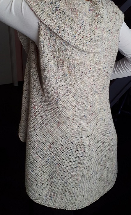Whirligig vest, Tunisian crochet pattern by Abbeymade