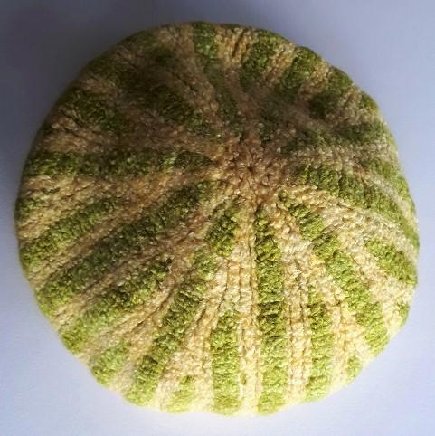 Felting Tunisian crochet beanie