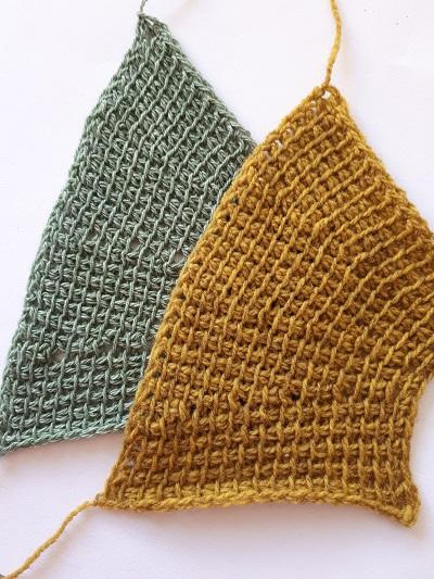 Tunisian crochet short return passes
