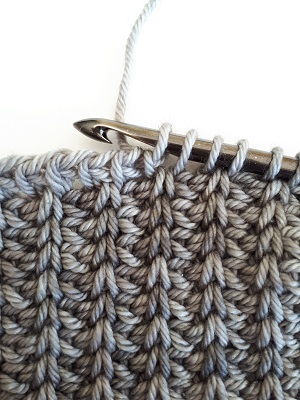 Tunisian rib stitch