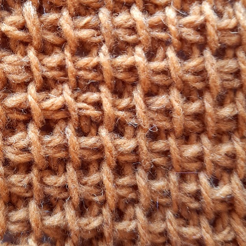 Tunisian simple stitches made with a yarn over