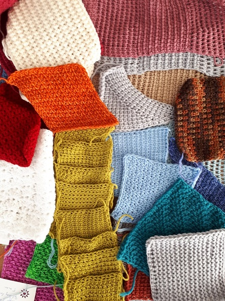 Make swatches to learn more about Tunisian crochet!
