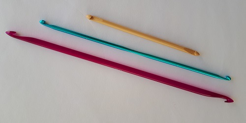 Double-ended Tunisian crochet hooks - different lengths