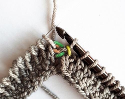 Yarn over, pull through 3 loops